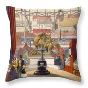 View Of The Zollyverein Musical Throw Pillow