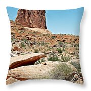 View Of Three Gossips In Arches Np-ut  Throw Pillow
