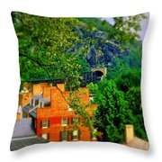 View Of Train Tunnel Throw Pillow