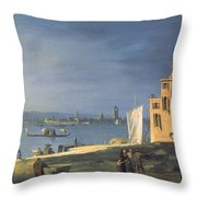 View Of Venice Throw Pillow