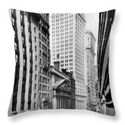 View Of Wall Street Throw Pillow