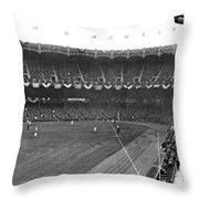 View Of Yankee Stadium Throw Pillow
