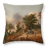View On The Medway Throw Pillow