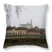 View Over Aare River Throw Pillow