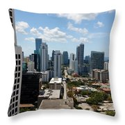 View Over Brickell Miami Throw Pillow