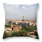 View Over Florence Throw Pillow