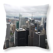 View Over Manhattan  Throw Pillow