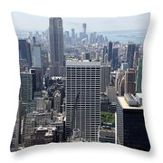 View Over Manhattan I Throw Pillow