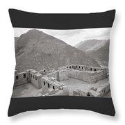 Landscape Of Pisac Throw Pillow