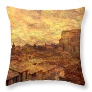 View Over Siena And San Domenico Throw Pillow
