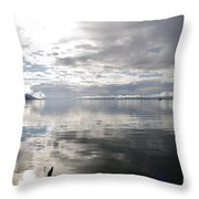 View Over The Ushuaia Bay In Tierra Del Fuego Throw Pillow