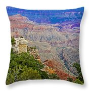 View Seven From Walhalla Overlook On North Rim Of Grand Canyon-arizona Throw Pillow