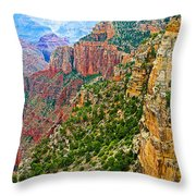 View Six From Walhalla Overlook On North Rim Of Grand Canyon-arizona Throw Pillow