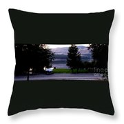 View To Columbia Throw Pillow