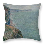 View To The Sea From The Cliffs Throw Pillow