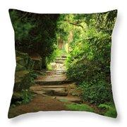 View To The Secret Garden Throw Pillow