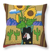View To The West Throw Pillow