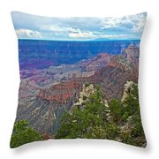View Two From Walhalla Overlook On North Rim Of Grand Canyon-arizona Throw Pillow
