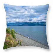 View Two Kluane Lake From Cottonwood Campground Near Destruction Bay-yk Throw Pillow
