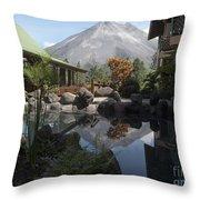 Viewing Arenal Volcano Throw Pillow