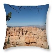 Viewpoint At Bryce Canyon  Throw Pillow