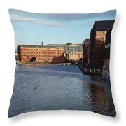 Views From Historic Gloucester Docks 2 Throw Pillow