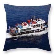 Views From Santorinia Greece Throw Pillow