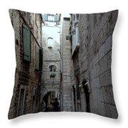 Views From Split Croatia Throw Pillow