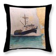 Vigilant Crab Fishing Boat Nautical Chart Art Throw Pillow