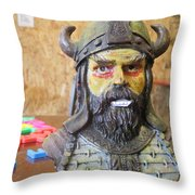 Viking 04 - Little Smile - Animation Project Throw Pillow