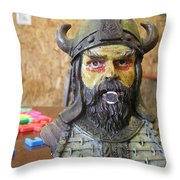 Viking 06 - Little Mouth - Animation Project Throw Pillow