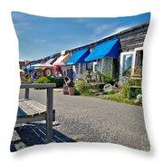 Viking Village Throw Pillow