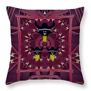 Vikings  And Leather Pop Art Throw Pillow