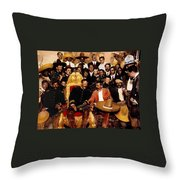 Villa And Zapata In The    National Palace In  Mexico City December 6 1914.  Throw Pillow