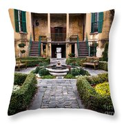 Villa Courtyard Throw Pillow