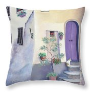 Villa Degli Algeri Tuscany Throw Pillow