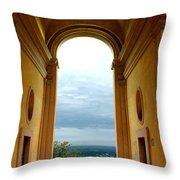 Villa Deste Tivoli Italy Throw Pillow