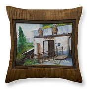 Villa In Tuscany Throw Pillow