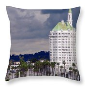 Villa Riviera Long Beach Throw Pillow by Jeff Lowe