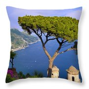 Villa Rufolo Throw Pillow