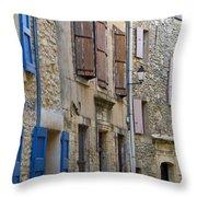 Village Apartments Throw Pillow