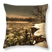 Village Bluff Throw Pillow