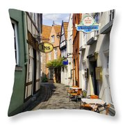 Village Cafe Throw Pillow
