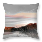 Village Creek Ar Morning Throw Pillow