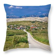 Village Gorica Island Of Pag Throw Pillow