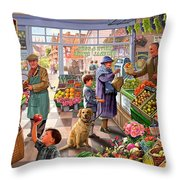 Village Greengrocer  Throw Pillow