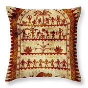 Village Holiday Throw Pillow