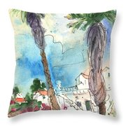 Village In Lanzarote 02 Throw Pillow