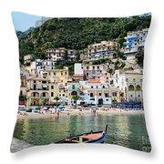 Village Of Cetara Throw Pillow