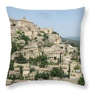 Village Of Gordes Throw Pillow